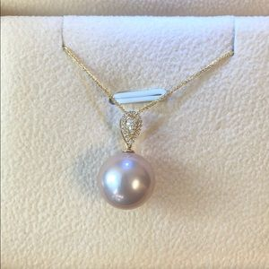 Jewelry - NWOT: Tahitian Pearl and diamond gold necklace
